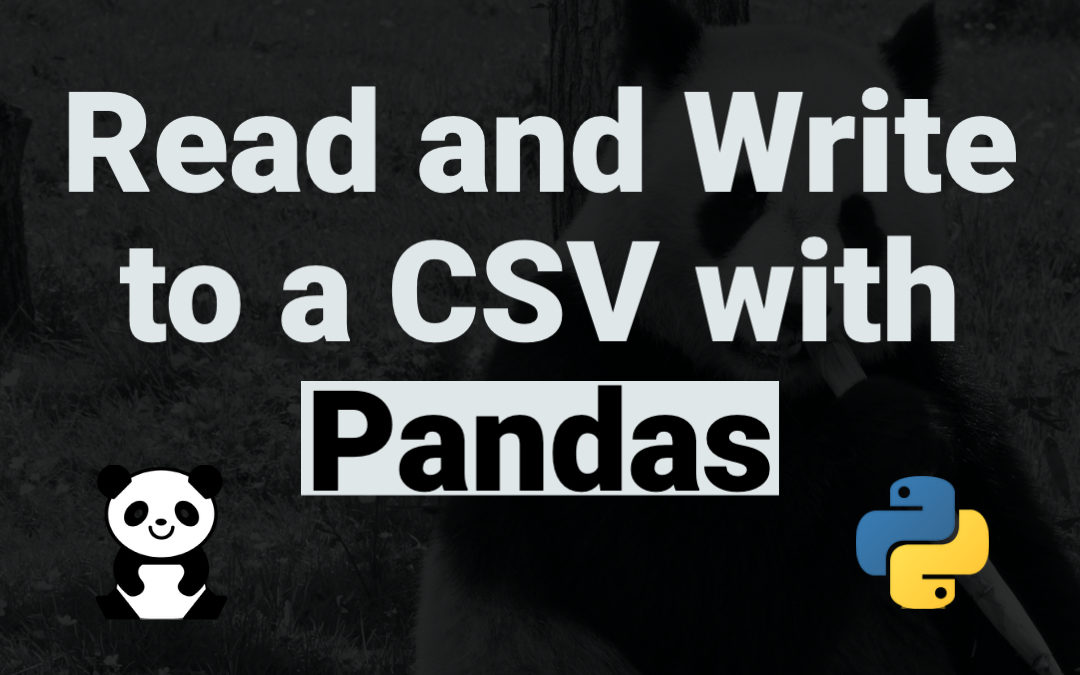 How to read and write to a CSV  File using Pandas