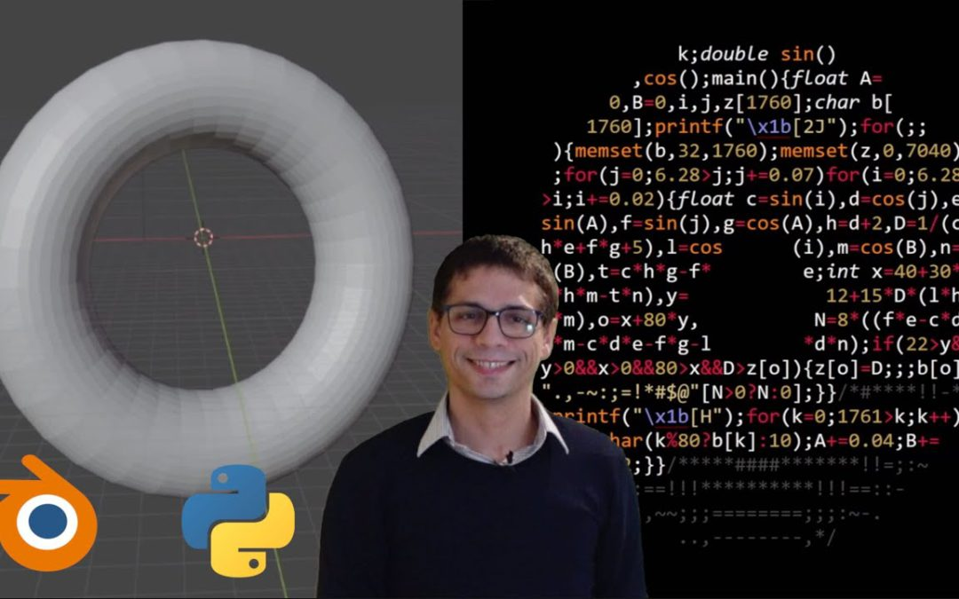 How to create a 3D spinning donut with Python, Blender, and some Donut-shaped math